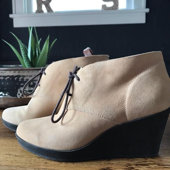 Cole Haan Shoes - 💕 Suede Cole Haan Wedge Booties💕